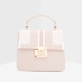 ELLE Satchel Bag with Twist and Lock Closure