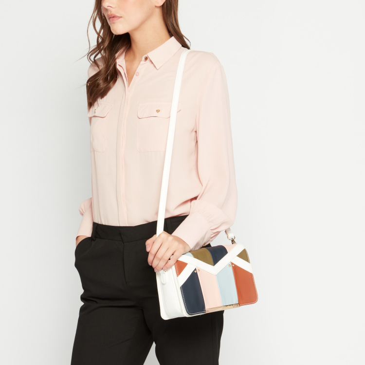 ELLE Patchwork Satchel Bag