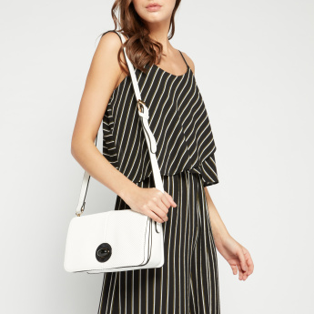 ELLE Textured Crossbody Bag with Twist and Lock Closure