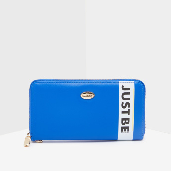Missy Wallet with Slogan Print