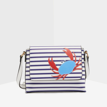 Missy Printed Crossbody Bag with Applique Detail