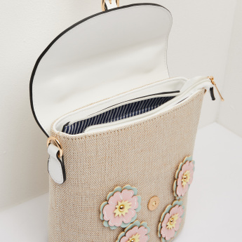 Missy Tote Bag with Flower Patches