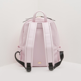Missy Printed Backpack with Adjustable Shoulder Straps and Zip Closure