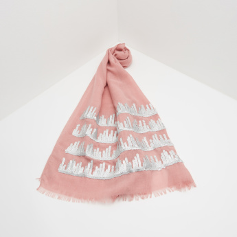 ELLE Embroidered Scarf