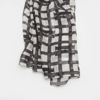 ELLE Scarf with Chequered Print
