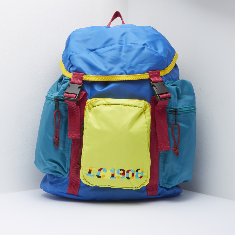 Lee Cooper Embroidered Backpack with Drawstring Closure