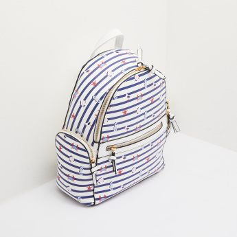 Missy Striped Printed Backpack