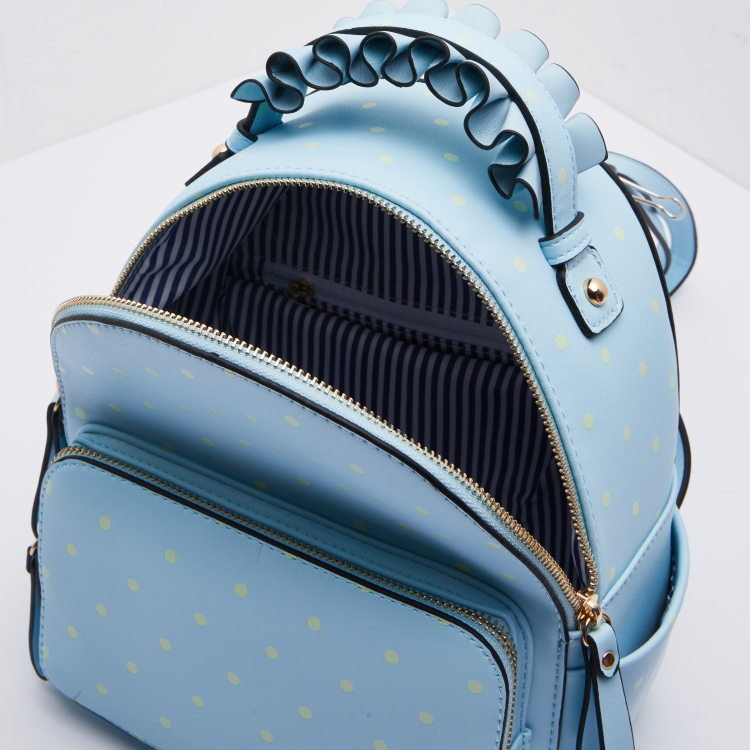 Missy Polka Dot Printed Backpack