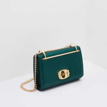 Celeste Crossbody Bag with Statement Embellished Lock