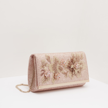 Celeste Embellished Clutch with Chain Strap