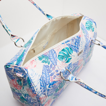 Celeste Printed Duffle Bag with Detachable Sling Strap