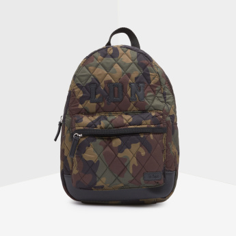 Lee Cooper Printed Backpack with Zip Closure