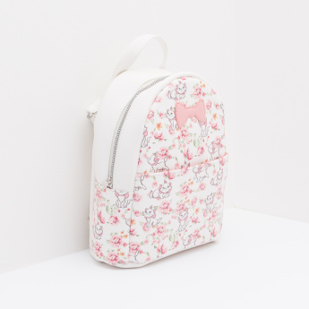 Marie Printed Bag with Bow Applique and Top Handle