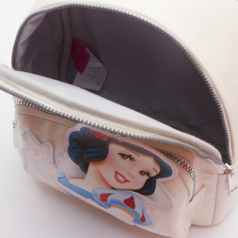 Snow White Applique Detail Backpack with Zip Closure