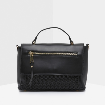 Celeste Weave Pattern Satchel Bag