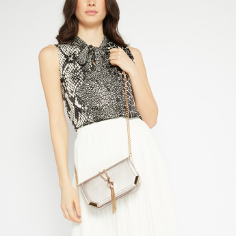 Celeste Metallic Sling Bag
