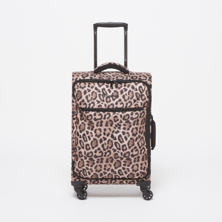 IT Leopard Print Trolley Bag with Retractable Handle