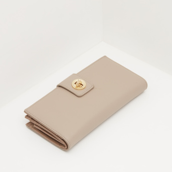 Celeste Wallet with Twist Lock Closure