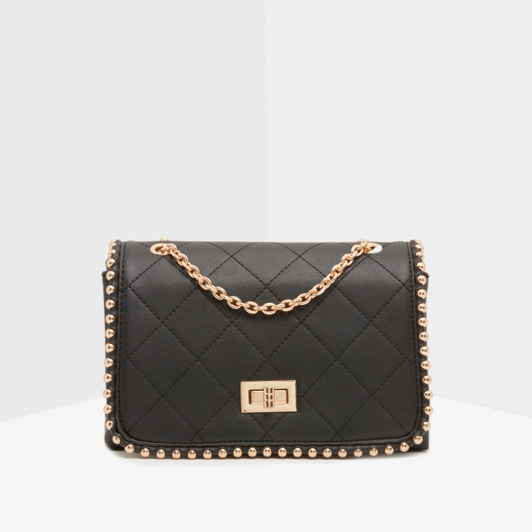 Celeste Quilted Crossbody Bag with Embellished Detail