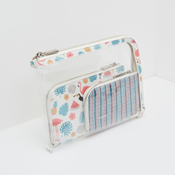 Missy See-Through Pouch with Printed Wallets