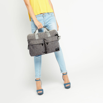 Missy Multi-Compartment Laptop Bag with Zip Closure