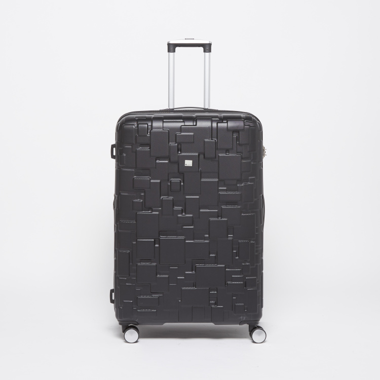 IT Patterned Travel Hard Case Trolley with Retractable Handle
