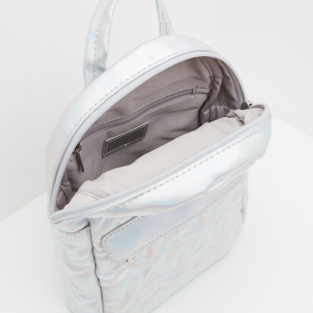 ELLE Stitch Detailed Backpack with Zip Closure