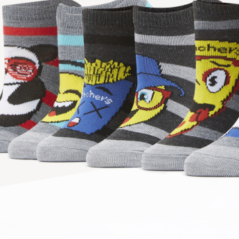 Skechers Graphic Printed Ankle Length Socks - Set of 6