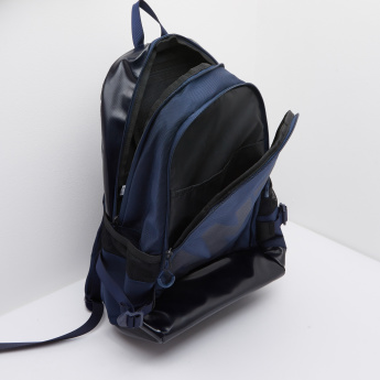 ANTA Textured Packpack with Zip CLosure and Mesh Pockets