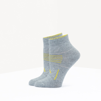 ANTA Printed Ankle Length Socks - Set of 2