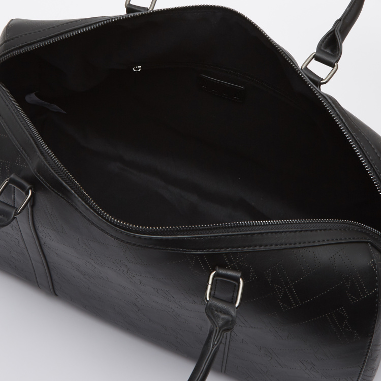 ELLE Textured Duffel Bag with Curved Handles