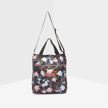 Floral Print Sling Bag with Adjustable Sling Strap
