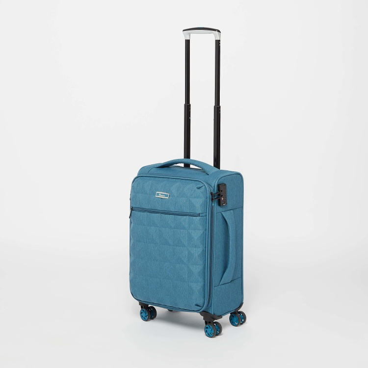 it Textured Softcase Trolley Bag with Retractable Handle