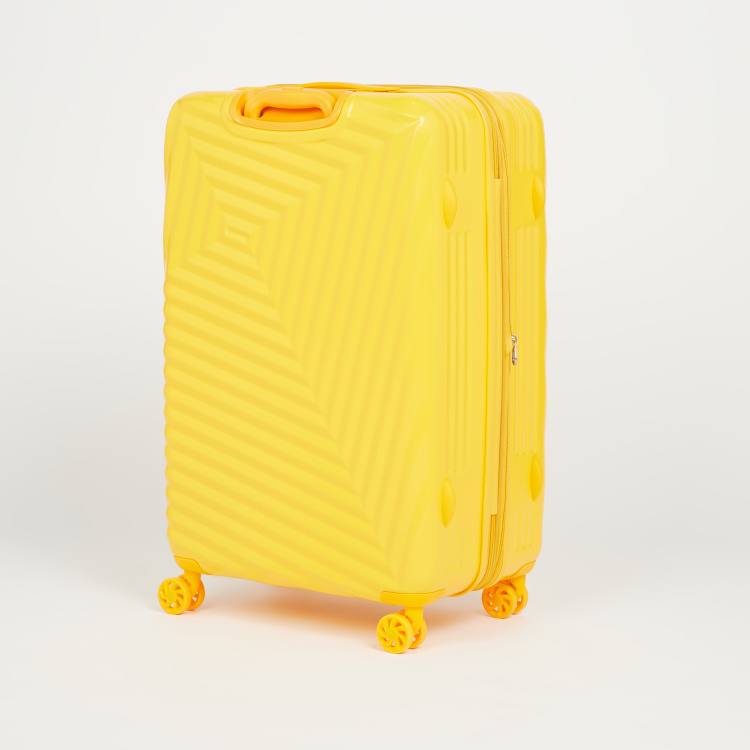 Duchini Textured Hardcase Trolley Bag with Retractable Handle