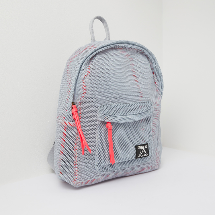 Kappa Textured Backpack with Contrast Tags