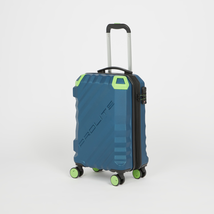 it Textured Hardcase Trolley Bag with Retractable Handle