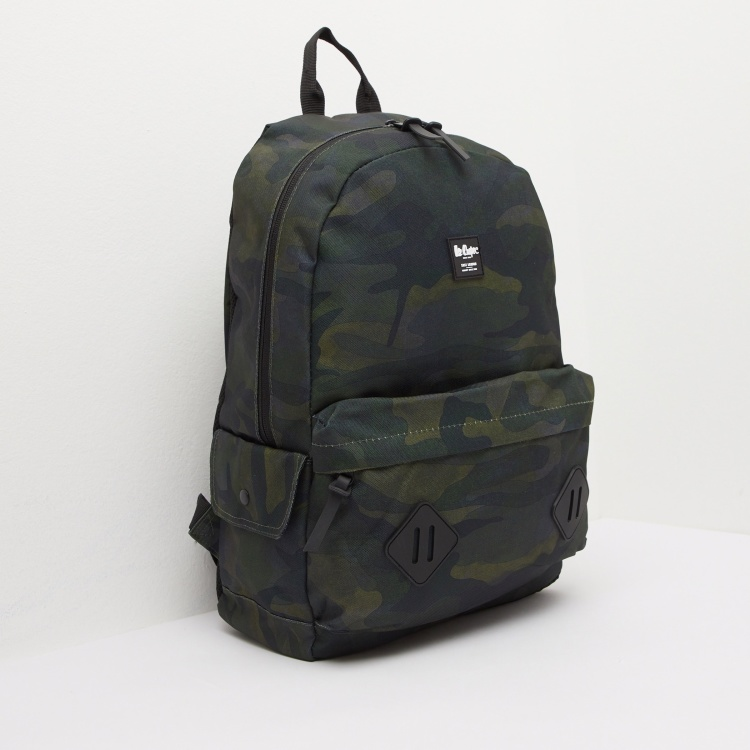 Lee Cooper Camo Print Backpack with Shoulder Straps