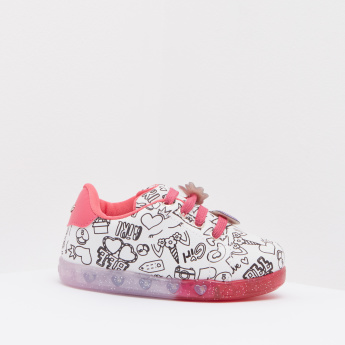 Pampili Printed Slip-On Sneakers with Applique Detail