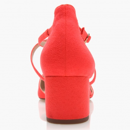 Paprika D'Orsay Sandals with Criss-cross Straps