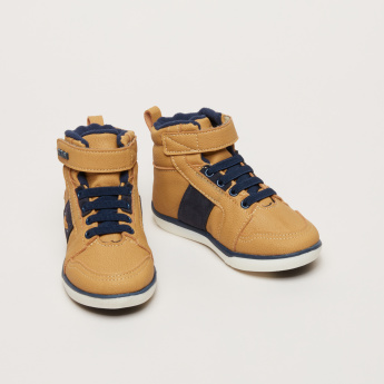 Klin High Top Boots with Logo Detail