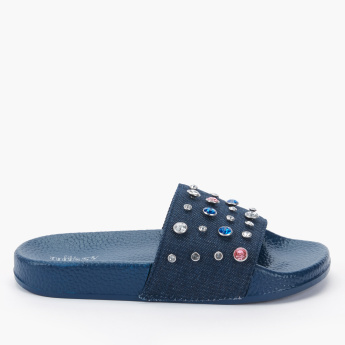 Little Missy Studded Slides