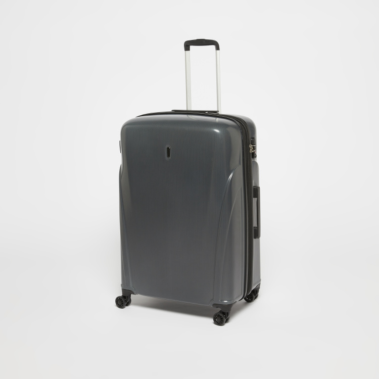 Duchini Textured Hard Case Travel Bag with Retractable Handle