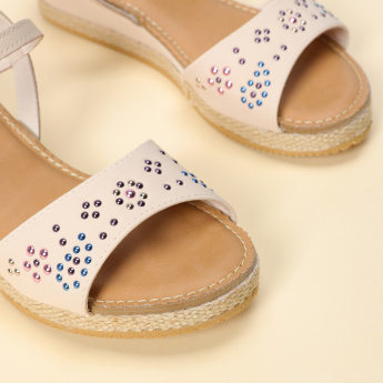 Pampili Embellished Sandals with Buckle Closure