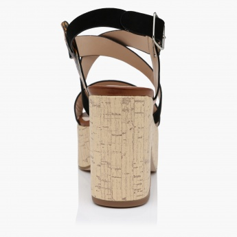 Elle Ankle Strap Block Heel Sandals