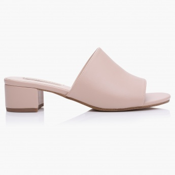 Paprika Block Heel Slip-On Sandals