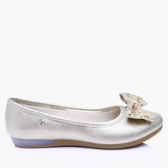 Pampili Slip-On Shoes with Bow Detail