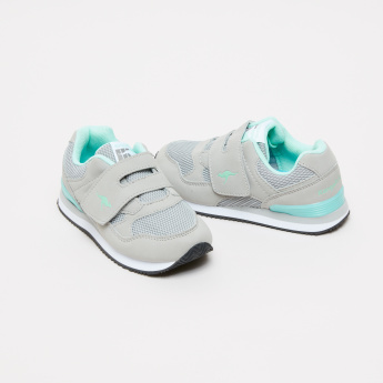 KangaROOS Textured Sneakers with Hook and Loop Closure