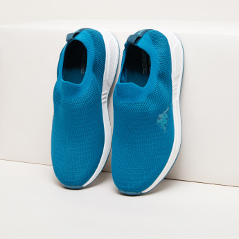 Kappa Textured Slip-On Sneakers