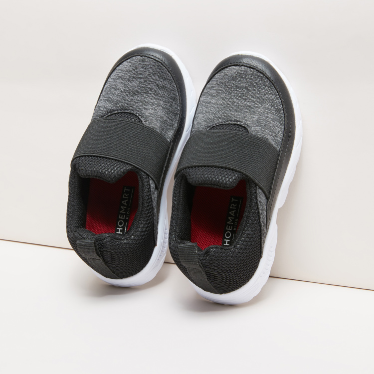 Mesh Detail Sneakers with Broad Vamp Band