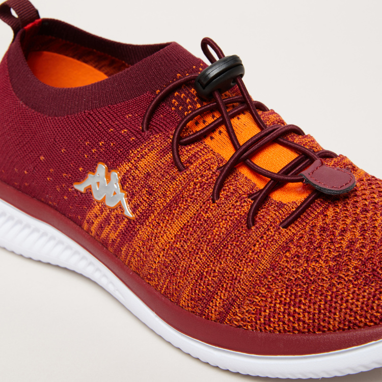 Kappa Boys' Textured Running Shoes with Drawstring Closure